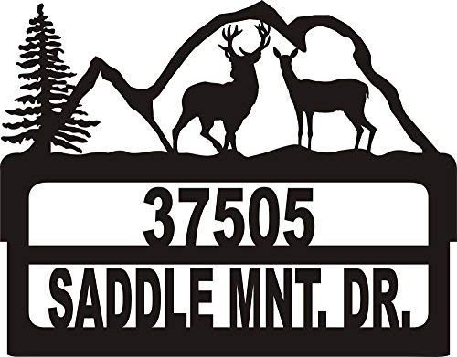 911 Address Yard Sign Buck Doe Mountains
