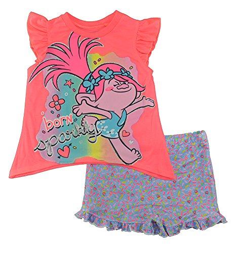 Trolls Toddler Girls Tunic and Shorts Set Pink
