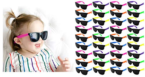 Edge I-Wear 36 Pack Neon Party Sunglasses with CPSIA certified-Lead(Pb) Content Free and UV 400 Lens (Made in Taiwan) (Kid-Asst, ()