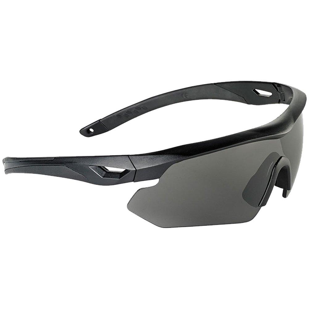 Swiss Eye Nighthawk Sonnenbrillen 3 Austauschbare Objektive Schwarz Gummirahmen 6475