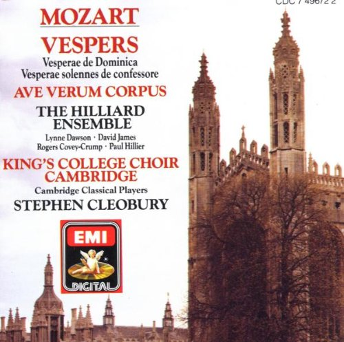Mozart: Vespers K. 321 & 339/Ave Verum Corpus; King's College Choir, Cambridge; Hilliard Ensemble