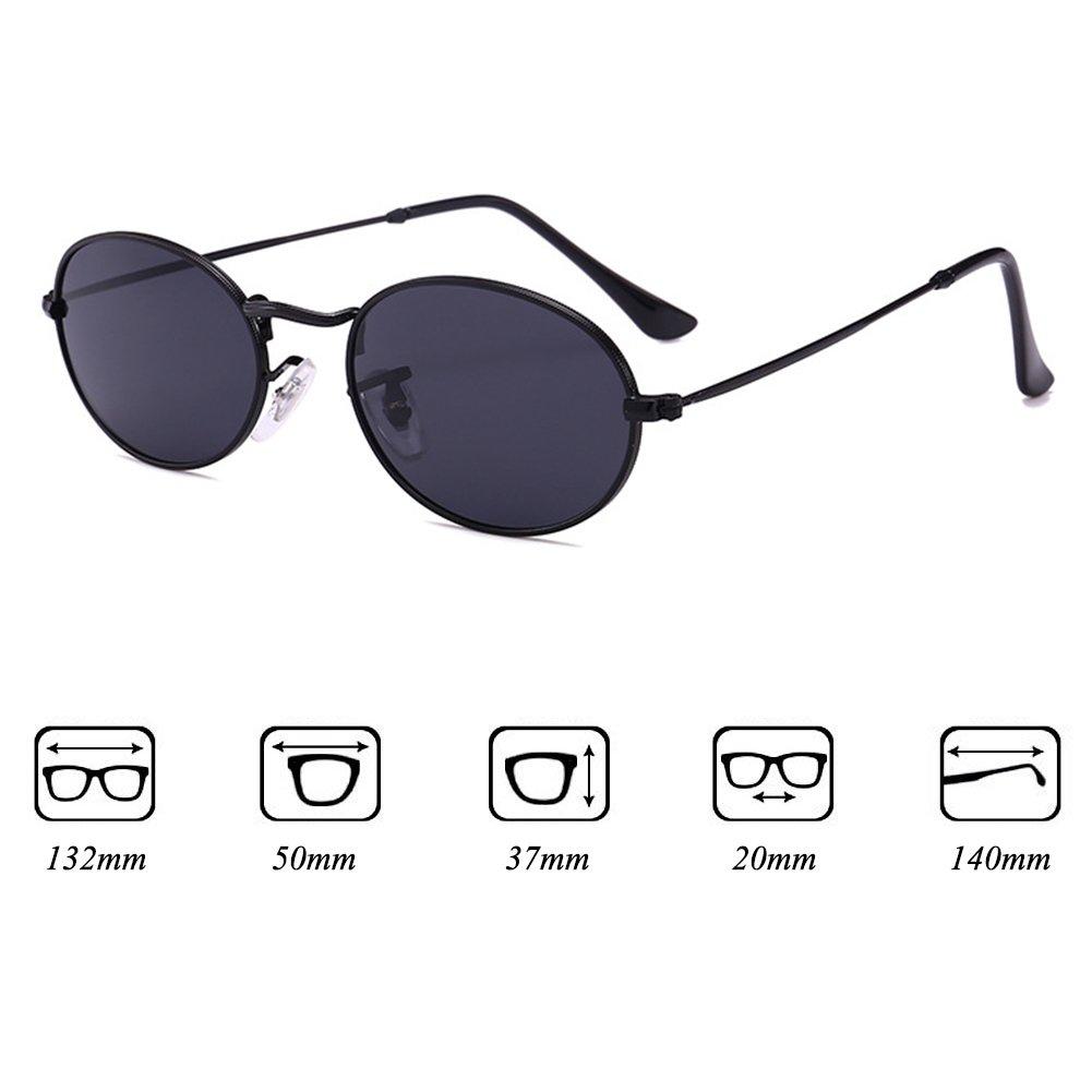 Vintage ovale lunettes de soleil pour femmes et hommes hibote petit cadre  en métal lentille en plastique UV400 C1  Amazon.fr  Vêtements et accessoires f0c5e0f7cc34