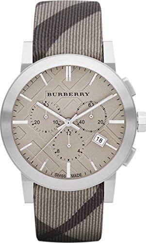 Burberry BU9358 - Reloj para hombre, cronógrafo suizo con control de humo (42 mm)