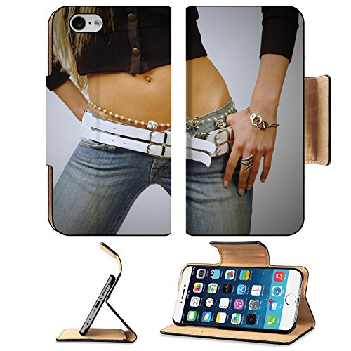 Costume Ideas Wearing Jeans (Liili Premium Apple iPhone 6 iPhone 6S Aluminum Snap Case Fit woman belly wearing jeans and bijouterie IMAGE ID 9670294)