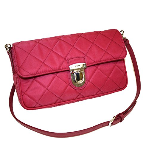 Prada Tessuto Impuntu Pattina Quilted Nylon Shoulder Bag BT1025, Pink ()