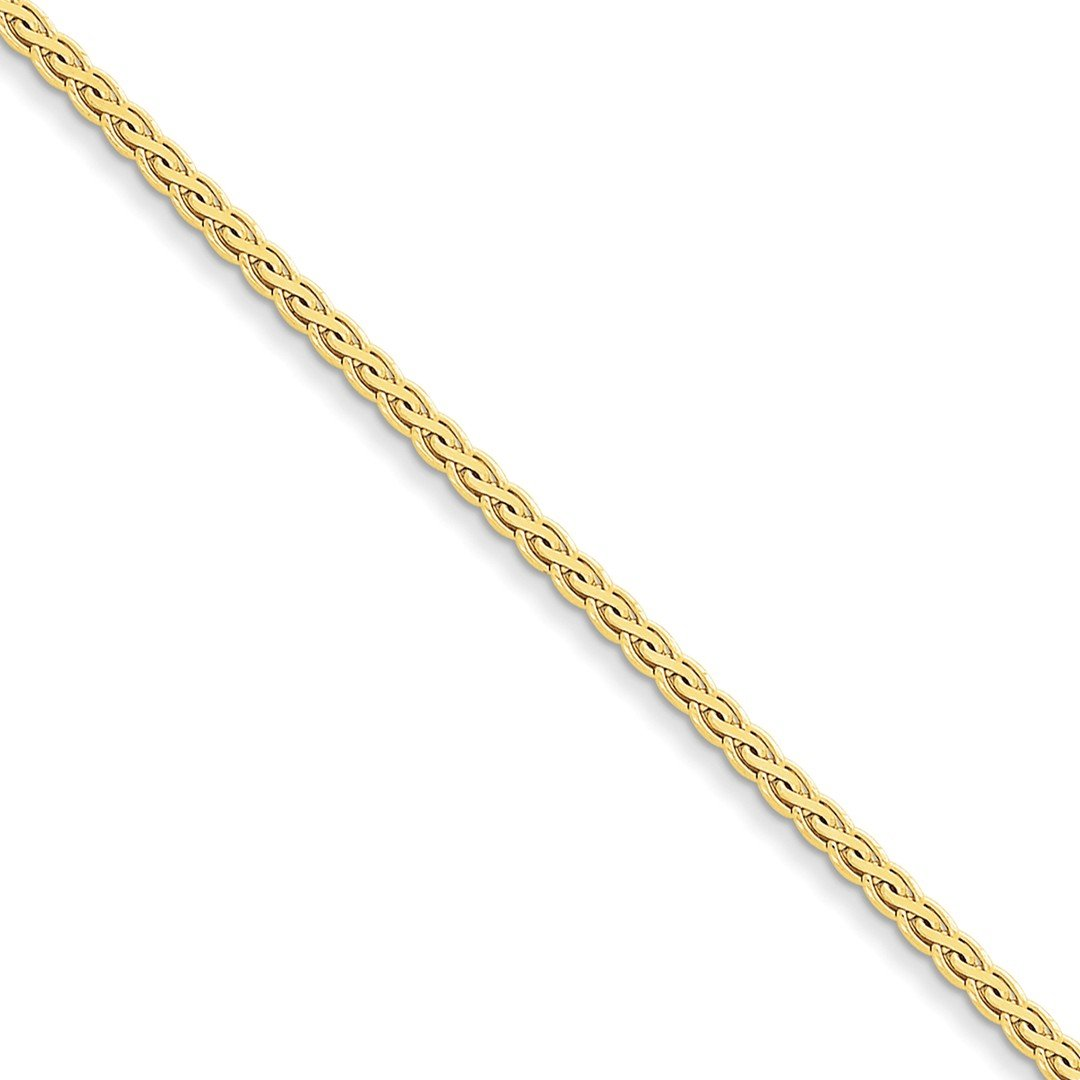 ICE CARATS 14k Yellow Gold 3mm Flat Link Wheat Bracelet Chain 7 Inch Fine Jewelry Ideal Mothers Day Gifts For Mom Women Gift Set From Heart by ICE CARATS (Image #1)