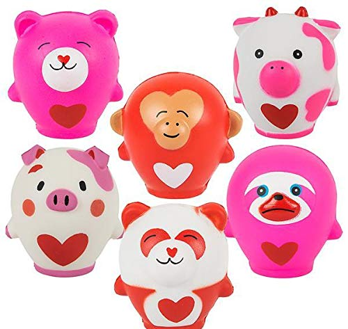 DollarItemDirect 3'' Valentines Squish Animals L, Case of 144 by DollarItemDirect (Image #1)