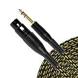 Sunburst Gear 851824003407 1/4-Inch TRS to XLR Female Cable (5-Feet)