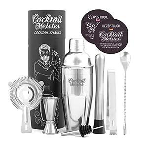Cocktail Meister - Set di shaker per cocktail professionale, ideale per la casa o il bar 4 spesavip