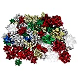 Hollywood Ribbon Inc. Christmas Bows Assortment, 84-Count
