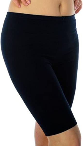 Pour femme active Au-dessus du genou Short de cyclisme en coton extensible par elegance Tenue d/écontract/ée et sportive