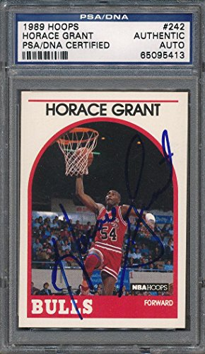 1989/90 Hoops #242 Horace Grant Certified Authentic Auto Autograph *5413 - PSA/DNA Certified - Basketball Slabbed Autographed Cards ()
