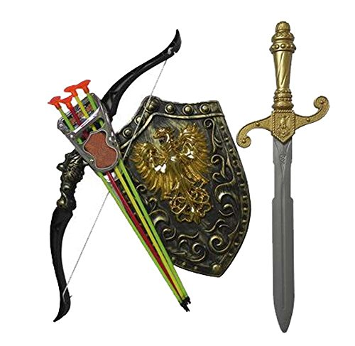 (Kids Toy Children Bows Sword Shield Combination Set Simulation Archery,B)