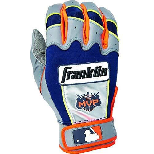 - Franklin Sports MLB Adult Miguel Cabrera CFX Pro Signature Series Batting Glove, Pair, Large, Grey/Orange