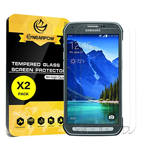 2-Pack-Samsung-Galaxy-S5-Active-Screen-Protector-Not-For-Galaxy-S5-Nearpow-Tempered-Glass-Screen-Protector-with-9H-Hardness-Crystal-Clear-Easy-Bubble-Free-Installation-Scratch-Resist