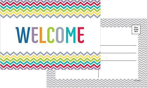 Creative Teaching Press Chevron Welcome Post Cards (4802)