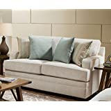 Simmons Upholstery 9165BR-02 Celine Parchment Loveseat, Coffee