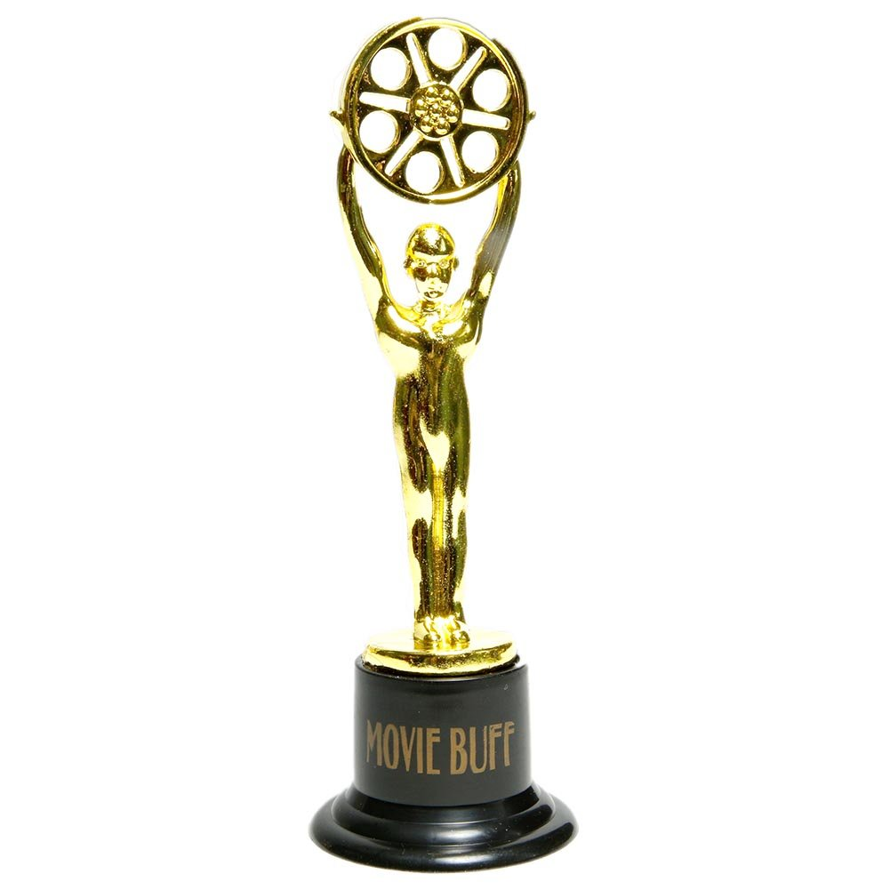12 Movie Buff Gold Statues for Hollywood Movie Awards Parties Decoration Fun Express