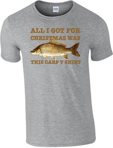 Shirt T shirt x S Fishing Carp L T Grigio 2 pesca 360 Christmas qIwOtYv