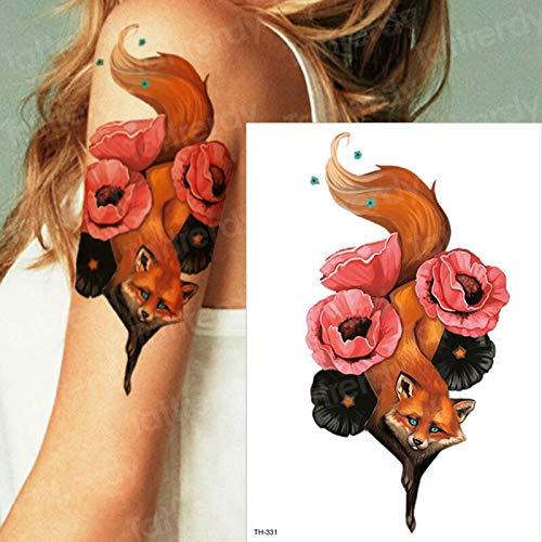 tzxdbh Tatuaje Temporal Mujer Tatuajes de Zorros de Agua Lobo ...