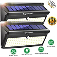 2-Pack Luposwiten Outdoor 100 LED's Motion Sensor Wireless Security Solar Lights