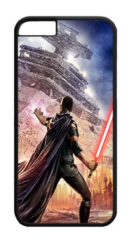 iPhone 6 Plus Case 6S Plus Case,Custom Design Star Wars Star Destroyer Lightsaber Force Unleashed Starkiller Video Game Personalized Bumper Cover Hard Plastic PC Black Case for iPhone 6 5.5 Inch