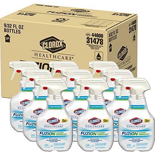 32 Ounce Spray Disinfectant - Clorox Healthcare Fuzion Cleaner Disinfectant Spray, 32 Ounces (Pack of 9)