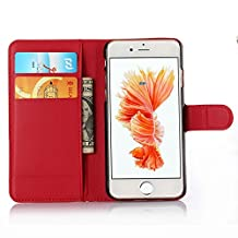 ihpone 6 Case,Hankuke Art Graphic PU Leather Magnet Flip Case with Kickstand and Card Holder for iPhone 6 (4.7-Inch) (red)