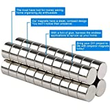 Set of 30 Multi-use Stainless Steel Refrigerator Magnets Round Stainless Steel Craft Magnet, Durable Magnets