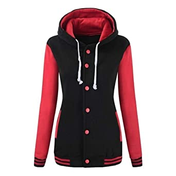 Luckycat Womens Winter Warm Baseball Hoodie Sport Sweatshirt Overcoat: Amazon.es: Ropa y accesorios
