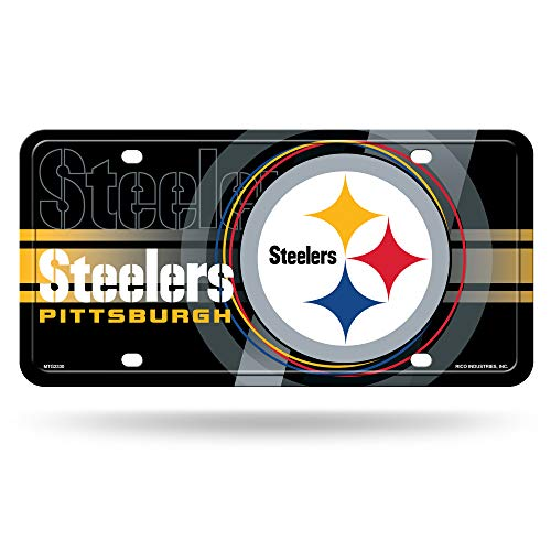(NFL Pittsburgh Steelers Metal License Plate Tag)
