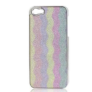 Motif en vagues coloré Bling Hard Cover affaire pour Apple iPhone 5 5G