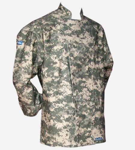 Original CHEFSKIN Long Sleeve Camouflage Chef Jacket in - Camo Chef Coat