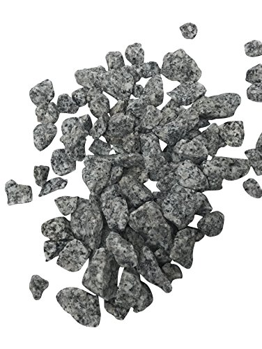 Granite Pillar (2 Pounds of Grey Granite Rocks, 32 oz bag, Gray Outdoor Decorative Stones for Craft Projects, Vase Filler, Succulents, Cactus Pots, Terrarium Plants)