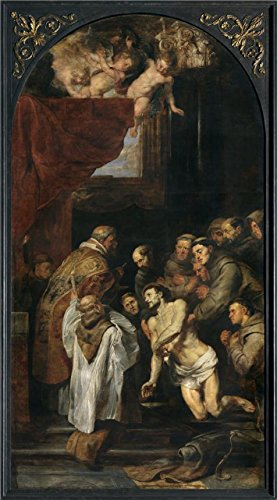 Oil Painting 'Peter Paul Rubens,The Last Communion Of Francis Of Assisi,1577-1640' Printing On Perfect Effect Canvas , 24x43 Inch / 61x110 Cm ,the Best Bedroom Gallery Art And Home Decoration And Gifts Is This Vivid Art Decorative Canvas Prints (Wicker Brian)