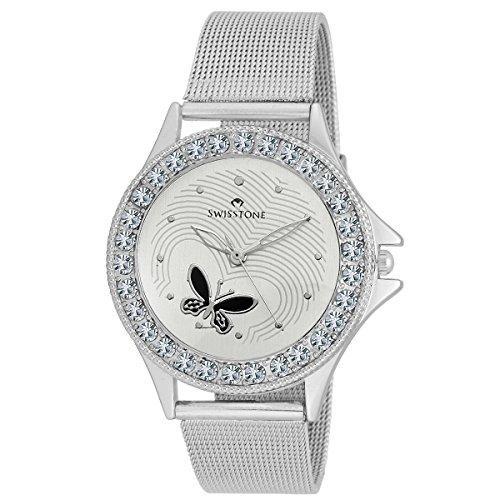 Swisstone Analogue White Dial Women Watch-VOGLR501-WHT-CH