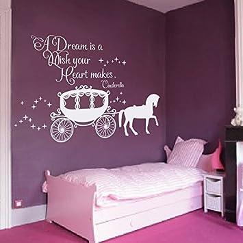 Sticker mural citation Decor Cendrillon - A Dream is a Wish ...