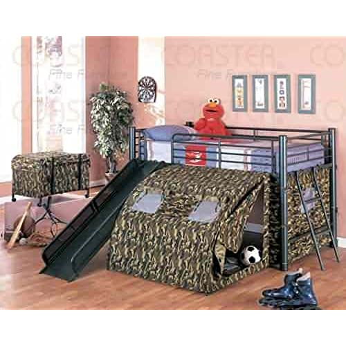 Bunk Bed with Stairs and Slide Amazoncom