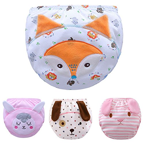 Max Shape Toddler Baby Girl Pee Potty Training Pants Cute Diaper Nappy 4 Pack M