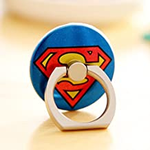 ZOEAST(TM) Super Marvel Hero Ring Universal 360° Rotating Phone Buckle Tablet Finger Grip Ring Stand Holder Kickstand Tablets iPhone 4 4S 5 5S 6 6S SE 7 Plus Samsung iPad iPod (Superman)