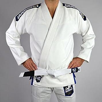 e676fc392077 DOGUERA Kimono JJB ELEMENTAR V.2 Blanc - Blanc, A1, JIU Jitsu BRÉSILIEN