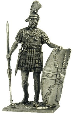 (Roman Legionnaire (1st Century AD) Tin Toy Soldiers Metal Sculpture Miniature Figure Collection 54mm (Scale 1/32))