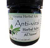 cream herpes - Anti-Viral Salve -OLIVE LEAF 100% Natural, Herbal Blend, 1.7oz with Tea Tree Oil, FOR COLD SORES, RASHES, HERPES & IRRITATED SKIN