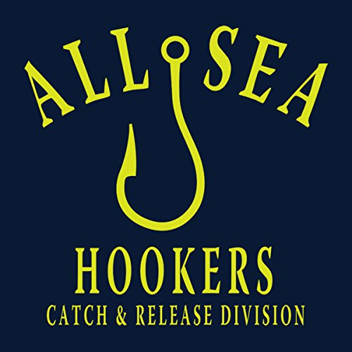 All Sea Hookers Catch And Release Division Yellow Women's Sweatshirt Navy blue