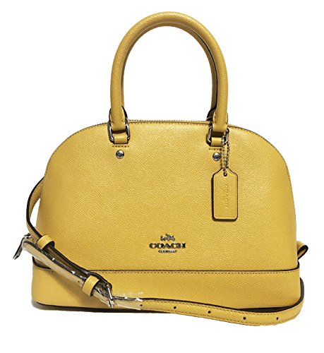 COACH MINI SIERRA SATCHEL IN CROSSGRAIN LEATHER F37217 (SV/Mustard) (Coach Purse Outlet)