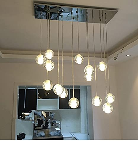 nasn 14 bubble lights g4 led rain drop wireflow crystal chandeliers
