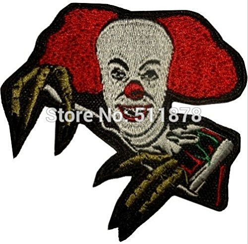 IT Horror Movie Pennywise the Dancing Clown Stephen King Movie TV Series Embroidered iron on patch transfer COMICS APPLIQUE