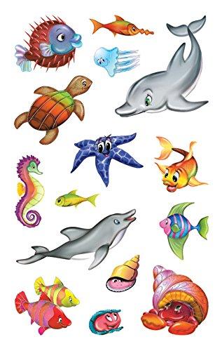 Avery Zweckform 53707 Kinder Sticker, Meerestiere, 30 Aufkleber
