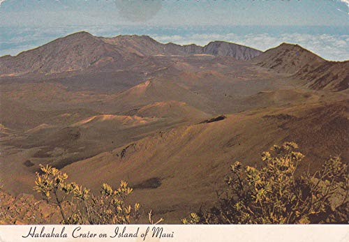 348VINT03 A 1976 Haleakala Crater on Island of Maui, HALEAKALA NATIONAL PARK VINTAGE COLLECTIBLE ANTIQUE POSTCARD from HIBISCUS EXPRESS -THIS POSTCARD IS 5 1/2