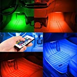 Guance 8 Color Music LED Car-Interior Lighting Kit with Sound Activated IR Remote Control Atmosphere Lamp and Car Charger for Hyundai Verna